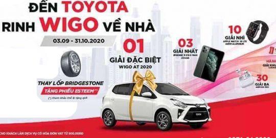 Bảo dưỡng tại Toyota Quảng Ninh - Có cơ hội nhận Toyota Wigo