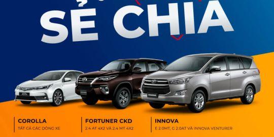 Khuyến mại tháng 4, Toyota Quảng Ninh Đồng hành cùng quý khách hàng trong dịch Covid 19