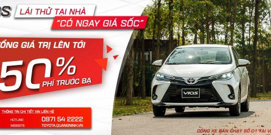 Lái thử tại nhà - có ngay giá ''sốc'' từ Toyota Quảng Ninh