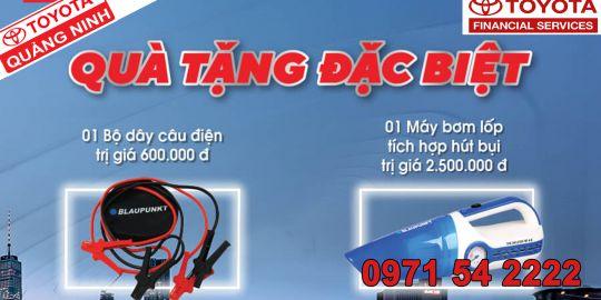 Quà tặng đặc biệt dành cho khách khách hàng mua xe trả góp thông qua gói tài chính của công ty tài chính Toyota Việt Nam