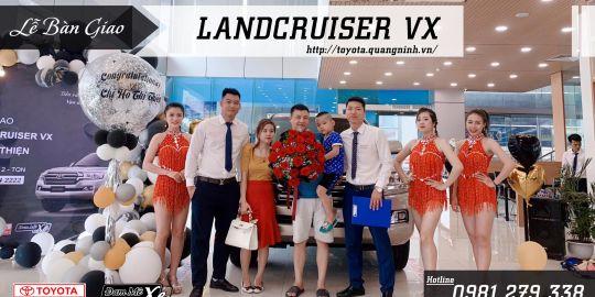 Toyota Quảng Ninh trân trọng bàn giao xe Landcruiser VX tới quý khách hàng miền đông!