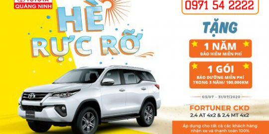 Toyota Quảng Ninh triển khai chương trình ưu đãi hè 2020