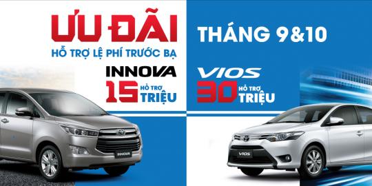Toyota Việt Nam Triển Khai Chương Trình Khuyến Mãi Cho Khách Hàng Mua Xe Trong Tháng 9 & 10