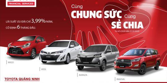 Ưu đãi lãi suất cực sốc dành cho khách hàng vay Tài Chính Toyota tại Toyota Quảng Ninh